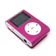 4GB PINK MP3 USB ATLANTIC CLIP LCD SCREEN MP3 PLAYER CLIP FM RADIO