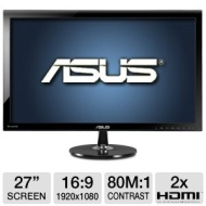 "ASUS VS278Q-P 27"" LED Monitor"