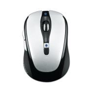 Gear Head Blue Tooth Laser Mouse for Mac Book, White with Silver Accents (BT9400WHT)