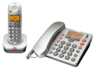 Amplicomms BigTel 480 Big Button Amplified Cordless DECT and Corded Telephone Set with Answering Machine