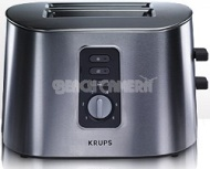 Krups TT6170 Stainless-Steel 800-Watt 2-Slice Toaster