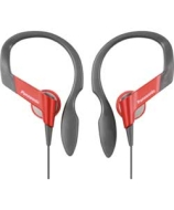 Panasonic Water Resistant Sports Clip Headphones - Red