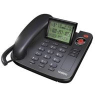 Uniden 1360BK Desktop Corded Telephone, black, one phone
