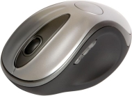 Verbatim Wireless Laser Desktop Mouse with Docking Station - Mouse - laser - 5 button(s) - wireless - 2.4 GHz - USB wireless receiver - black, silver