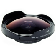 Opteka Platinum Series 43mm 0.3X HD Ultra Fisheye Lens for Canon VIXIA HV30, HG10, HV20, & HV40 Digial Video Camcorders