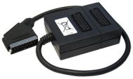 Scart Splitter 2 Way - Premium Quality / 21-pin Scart (Fully Wired) / Male to 2 x Female / Audio / Video / Adapter / Multiplier