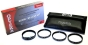 Opteka 72mm Hi-Def Professional Filter Kit UV, PL, FLD Silver