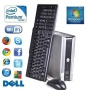 VERY SMALL PC 500GB DELL DUAL CORE WINDOWS 7 WIFI DVDRW ECO QUIET (P4-6)