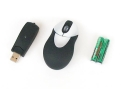 Mini Wireless Optical Mouse with USB Retractable Receiver