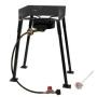 "King Kooker 25"" Tall Heavy Duty Portable Propane Single Burner Outdoor Cooker/ Camp Stove"