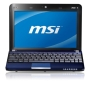 MSI Wind U135 10 inch Netbook (Atom N450 1.66GHz, 1GB, 160GB, WLAN, Webcam, 6 Cell Battery, Win 7 Starter) - Black
