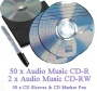 Recordable Audio Music CD-R Pack 50 x 80 minute Blank Music CD (Compact Disc Digital Audio Recordable) + 2 x Audio Music CD-RW + CD Sleeves to fit + C