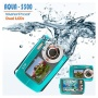 SVP 18MP Max. Underwater Digital Camera & Video Recorder - Dual LCDs Screen (2.7 + 1.8 TFT) - Blue