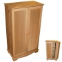 RICHMOND - CD / DVD / Blu-ray / Video Media Storage Cupboard - Beech