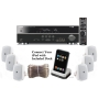 Yamaha 3D-Ready 5.1-Channel 500 Watts Digital Home Theater Audio/Video Receiver + Yamaha Universal iPod Dock + Set of 6 Yamaha All Weather Indoor / Ou