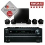 Boston Acoustics SoundWare XS 5.1 Speakers And Onkyo TX-SR608 AV Receiver Bundle With Free Cable Pack