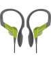 Panasonic Water Resistant Sports Clip Headphones - Green