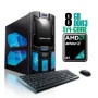 CybertronPC Spartan 2211CBQ, AMD Athlon II X3 Gaming PC, W7 Home Premium, Black