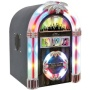 Pyle Home PJCDUB25 Tabletop Retro Jukebox with CD, FM Radio, USB/SD/MP3 and Aux-Input for iPod/iPhone and Android