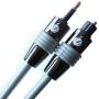 Fisual Mini Toslink to Standard Toslink Optical Cable- Pro Install Series 0.5m (suitable for MacBook, MacBook Pro or recent iMac or Mac Mini)