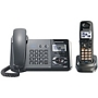 Panasonic 2-Line DECT 6.0 Digital Corded/Cordless Phone Set and Answering System - 2 Phones