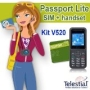 Telestial Kit V520 Dual-band Handset and Passport Lite Dual-IMSI SIM