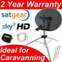 Netgadgets NK43 Portable 43cm Mini Dish Satellite Dish Kit for caravan/camping holiday