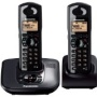 Panasonic KX-TG6482ET Rugged Drip and Dust Proofing DECT Twin Phone Set - Black