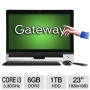 Refurbished - Gateway ZX6971-UR30P Intel Ci3-3120 3.3GHz 6GB 1TB DVDRW 23&quot; Win7 (Black)