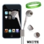 Apple iPod touch 8 GB (3rd Generation) NEWEST MODEL iTouch Earbuds iPod Earphones WHITE