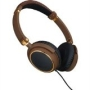 Igo Memphis Multi-Device Stereo Headphones Brown/Gold