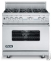 "Viking VGCC536-6BSS 36"""" Gas Range with Six Burners - Stainless Steel"