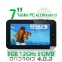 """TBS® M713 Android 4.0 MID 7 """" touch screen Tablet PC A13 1.2Ghz, 512 MB, DDR3, 8G, con schermo capacitivo, fotocamera, wifi--black"""