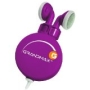 Grandmax R-AUDIO-4 Retractable Stereo Earphone, Purple