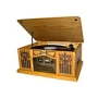 Studebaker Wooden Music Center with Turntable, CD Player, AM/FM Radio and Cassette Player
