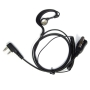 Maximal Power 2-Pin Adjustable C-Shaped Earpiece with Rubber Earhook and Earbud for Kenwood 2 way Radios (Black)