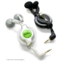 miniBuds - Retractable Stereo Headphones (Silver White, 2.5mm (3/32 inch))