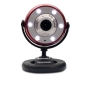 Gear Head Red/Black Quick 1.3MP WebCam with Night Vision