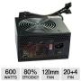 600W Coolmax 12CM Fan Modular Psu Single Pcie 5YR Warr CU-600B