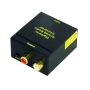 KanaaN Audio Digital to Analog Converter 2nd Generation - SPDIF/ Toslink to R/L Audio Converter - Digital (Toslink/Coaxial) to Analogue (Cinch) and 3