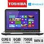 Toshiba Satellite L855-S5155 Notebook PC - 3rd generation Intel Core i5-3230M 2.6GHz, 6GB DDR3, 750GB HDD, DVDRW, 15.6 Display, Windows 8 64-bit, Silv