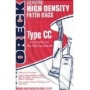 Oreck Part#CCPK8 - Genuine Oreck Type CC Vacuum Bag for Models XL5, XL7, XL21, 2000, 3000, 4000,7000, 8000 and 9000 Series - Only Fits Oreck Uprights