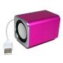 Ricco MD3 MINI DSP 2.0 CHANNEL Ultra Light Aluminium USB Portable Travel Speaker For Laptop Desktop MAC Computer Netbook ---(Built-in DSP USB Sound Ca