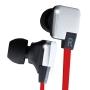 Pineapple Electronics PEH-BICBANG1-BK BicBang 1 High Performance Flat Cable Headphones - Silver/Red/Black