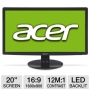 Acer S202HLBD 20 Class Widescreen LED Backlit Monitor - 1600 x 900, 16:9, 12000000:1 Dynamic, 60Hz, 5ms, DVI, VGA, Energy Star (Refurbished)