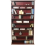 HARROGATE - CD / DVD / Blu-ray Media Storage Shelves - Mahogany