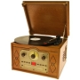 Steepletone Chichester Nostalgia Record Player with Radio, CD and Cassette Player - Light Oak look finish