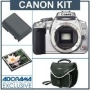 Canon Digital Rebel XTi Chrome SLR Camera Kit, with 2 GB CF Memory Card, Spare NB-2LH Lithium-Ion Rechargeable Battery, Slinger System Bag