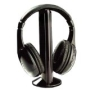 GSI Super Quality 5-In-1 Wireless Hands-Free Hi-Fi Headphones - Bass Speaker Stand, FM Radio Function - Connects to TV/iPod/MP3/MP4/CD/DVD Players an