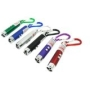 BAFX Products (TM) - 6-Pack of Strong Red Presentation Key Chain (3-in1) Laser Pointers - Colors per pack will vary. May come in: Red / Black / Silver